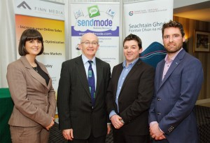 Sendmode CEO, John McNamara and Marketing Manager, Aine Doherty pictured with Michael Tunney, DCEB and Denis Finnegan, Finn Media