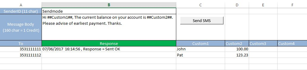 Tutorial2-Settings Excel2SMS